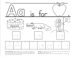 Snapshot Image Of Printable One Page The Kindergarten Trace And ...