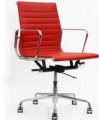 lexmod ribbed mid office. LexMod Ribbed Mid Back Red Office Chair Lexmod G