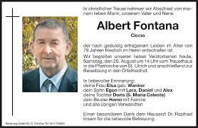 Anzeige von Albert Fontana | trauer.dolomiten.it