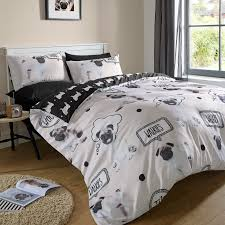 woof pug dog childrens bedding duvet cover set twin full queen brilliant ideas of childrens king size duvet covers