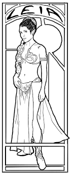 Princess Leia Star Wars Coloring Pages Throughout Leah