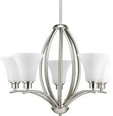 progress lighting p4490 09 joy 5 light chandelier in brushed nickel transitional chandeliers