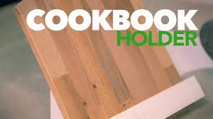 diy cookbook holder