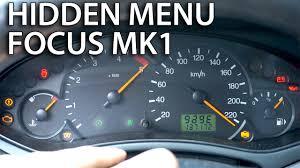 Ford Focus Mk1 Hidden Menu Mr Fix Info