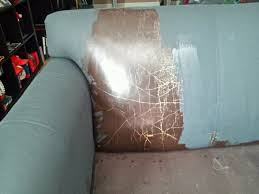 how to paint leather furniture. Wonderful Furniture Annie Sloan Paint Leather  And The Same Section After Graphite Chalk Paint  And Sealed With Clear  Intended How To Leather Furniture