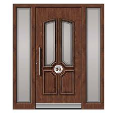 traditional panel aluminium front door with sidelights