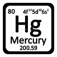Periodic Table Element Mercury Icon. Stock Illustration - Image ...