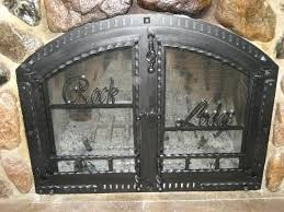 cast iron fireplace door antique fireplace cover cast iron fireplace glass doors