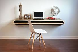 Since the Minimal Float Wall Desk is mounted, you can make it any height you