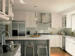 Clear Glass Backsplash Interior Using Subway Tile Backsplash Kitchen Glass Tiles Id