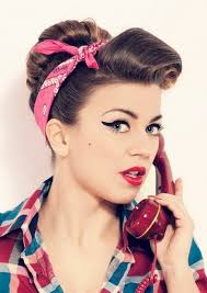 50s hairstyles on pin up hairstyles 50s makeup and