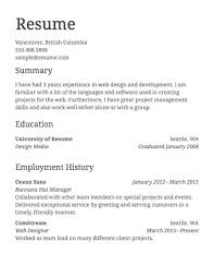 Resume Job Template Sample Resume Resume Ideas