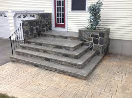 stamped concrete patio with stairs. Contemporary Patio Colored And Stamped Patio On Stamped Concrete Patio With Stairs