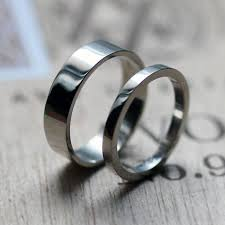 alternative to wedding ring. palladium wedding band set, band, ring, modern alternative bands, mens custom made to ring