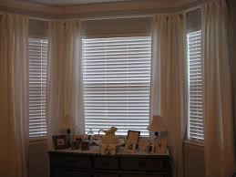 Blinds And Curtains Together Bay Window Blinds Images White Wooden Blind In A Bay Window U201c