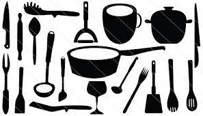 kitchen utensils silhouette vector free. Contemporary Vector Kitchen Tools Silhouette Vector 20 With Utensils Free