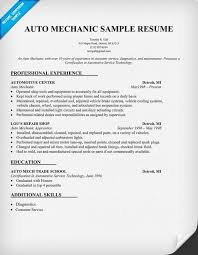 Auto Mechanic Resume Templates Amazing 40 Auto Mechanic Resume Sample ZM Sample Resumes ZM Sample