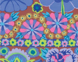 Sun Valley Fabric by SunValleyFabric on Etsy & Kaffe Fassett Free Spirit Artisan Collection Embroidered Flower Border Blue  Half Yard Cut and Yardage Available Adamdwight.com