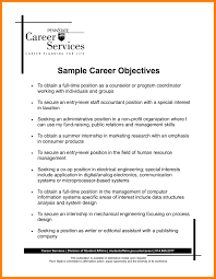 Career Objectives Examples Resume Cover Letter Example Objective