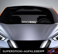 SUPERSTICKI Windschutzscheiben Sticker ca 40 cm Japanese Muscle car Autoaufkleber Tuning Decal A992 aus Hochleistungsfolie Aufkleber Autoaufkleber ...
