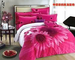 pink duvet cover queen hot pink sunflower comforter bedding set king size queen comforters with regard