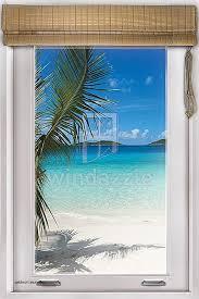 faux window wall decal