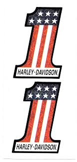harley davidson number one prism decal sticker sheet of 2 logos
