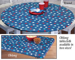 fitted elastic star pattern table cover
