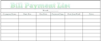 Printable Bill Organizer Spreadsheet Bills Calendar Template Bill