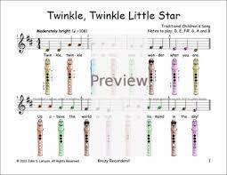 Easy Recorder Twinkle Twinkle Little Star