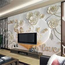 3d Behang Foto Behang Custom Muurschildering Woonkamer Relief Rose