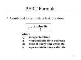 Pert Chart Formula Software Project Mangmement Lecture 5
