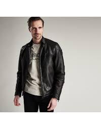 barbour international men s marlon leather jacket black mlt0078bk11