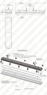 t8 led vapor proof light fixture led light 4 long