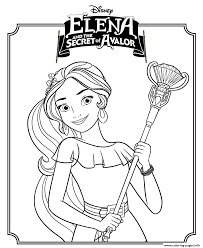 Elena And The Secret Of Avalor Disney Princess Coloring Pages ...