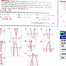 solving quadratic equations by graphing worksheet resume