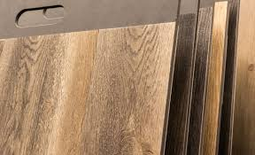 rows of vinyl flooring in diffe finishes and colours