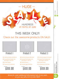 huge fall product flyer template stock vector image  huge fall product flyer template