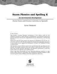 Phonics is a method of teaching kids to learn to read by helping them to match the sounds of letters, and groups of letters, to distinguish words. Saxon Phonics K Literature Extensions Product Saxon Publishers