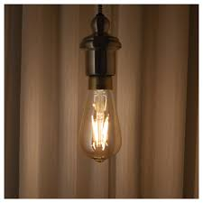 Lunnom Led Bulb E27 400 Lumen Dimmable Drop Shaped Brown Clear Glass