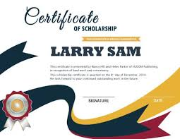 Scholarship Certificate Template Scholarship Certificate Hloom