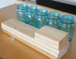 s wood and mason jar planter box making it in the mountains