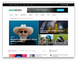 Most Popular Free Magazine News Website Templates 2019