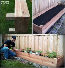 here s a list of materials that you ll need to make three of your own garden boxes measuring 8 length x 2 width x 1 height