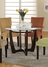 round glass kitchen table. amazon.com - bloomfield round glass top dining table by coaster tables kitchen d