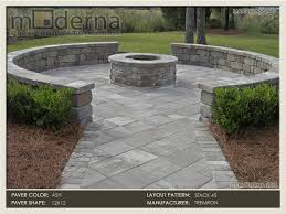square paver patio with fire pit. A Paver Patio And Seating Wall Arounding Fire Pit Overlooking The Marsh Intracoastal In Square With P