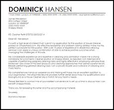 Cleaner Cover Letter Sample Cover Letter Templates Examples