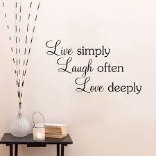 Us 268 20 Offfreies Verschiffen Zitate Wand Aufkleber Einfach Leben Lachen Oft Liebe Tief Hause Dekoration Zitate Sprüche Wand Abziehbilder Bb 2