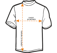 Regular Fit T Shirt Size Chart Size Chart India