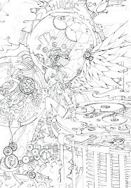 Angel Coloring Page An Angel In Anime Motion Coloring Page Angel